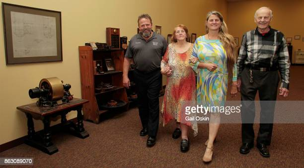 Stephen K Comley Virginia Comley Bonnie Comley and James F Comley attend the National Elevator Museum Exhibit At Union Hall on Thursday October 19...