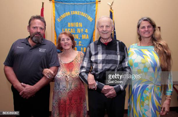 Stephen K Comley Virginia Comley James F Comley and Bonnie Comley attend the National Elevator Museum Exhibit At Union Hall on Thursday October 19...