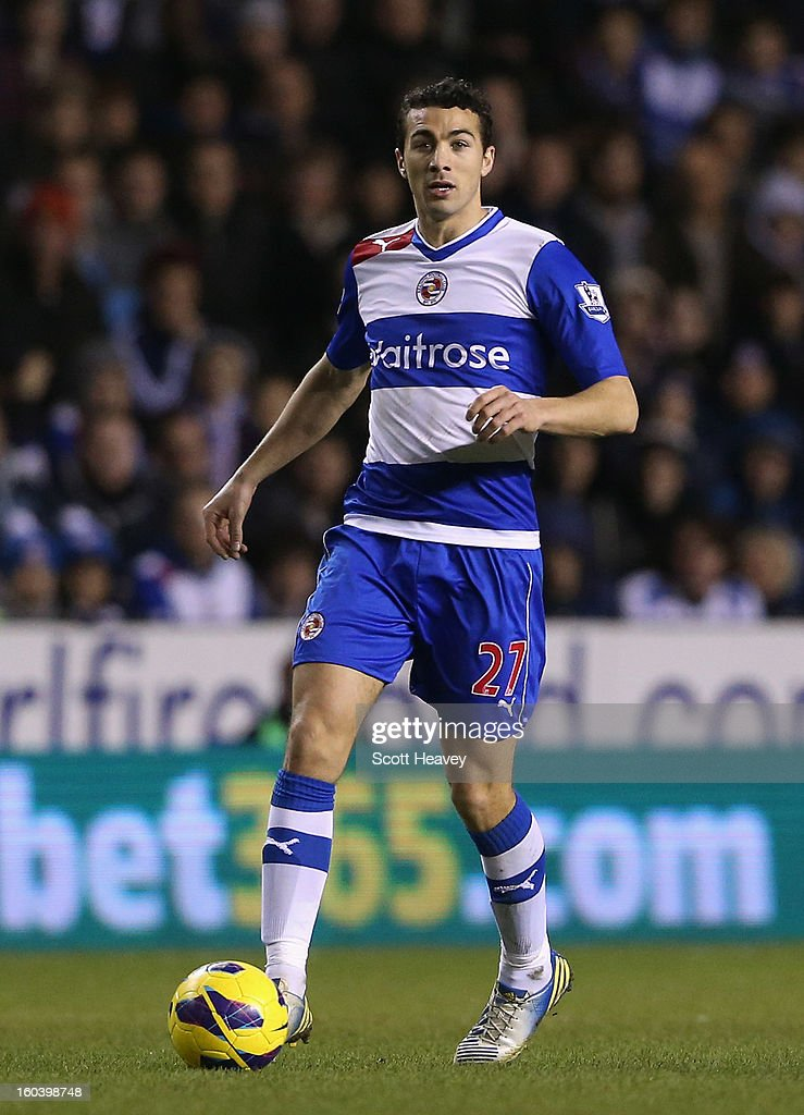 Stephen Kelly of Reading in action during the Barclays Premier League match between Reading and Chelsea at Madejski Stadium on January 30, 2013 in Reading, England.