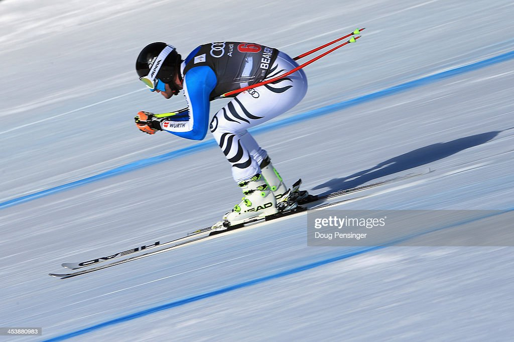 Stephen Keppler of Germany in action during downhill training for the Birds of Prey Audi FIS Ski World Cup on December 5, 2013 in Beaver Creek, Colorado.