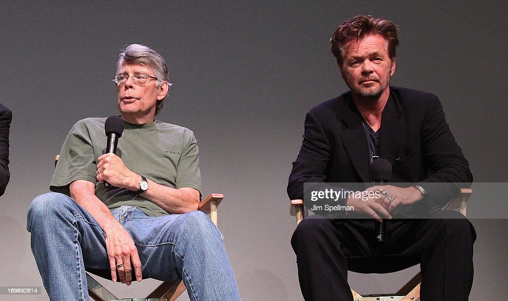 Stephen King and John Mellencamp attend Meet the Creators at Apple Store Soho on June 3, 2013 in New York City.