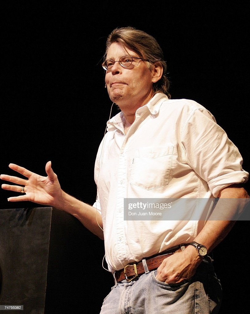 Stephen King at the Florida State University in Tallahassee, Florida