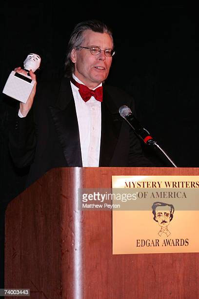 Stephen King is presented the Grand Master Award at the Mystery Writers Of America Edgar Allen Poe Awards honoring the best in mystery fiction...