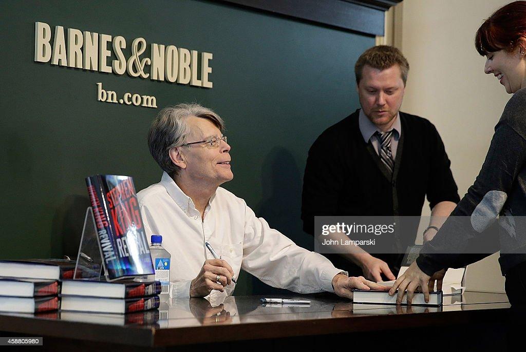 Stephen King Signs Copies Of His Book 'Revival' at Barnes & Noble Union Square on November 11, 2014 in New York City.