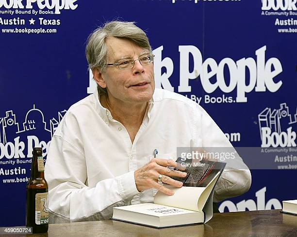 Stephen King signs copies of his new book 'Revival' on November 15 2014 in Austin Texas