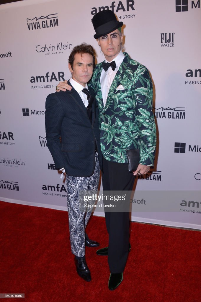 Stephen Knoll (L) and Patrick Mcdonald attend the amfAR Inspiration Gala New York 2014 at The Plaza Hotel on June 10, 2014 in New York City.