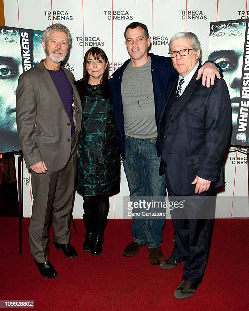 Stephen Lang Karen Allen Terrence Mulligan and Peter Riegert attend the 2011 Craic Festival Premiere of 'White Irish Drinkers' at Tribeca Cinemas on...