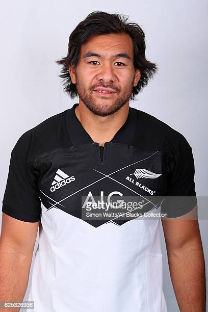 Stephen Luatua poses during the All Blacks End of Year Tour 2016 Headshots Session at Auckland International Airport Novotel on October 28 2016 in...