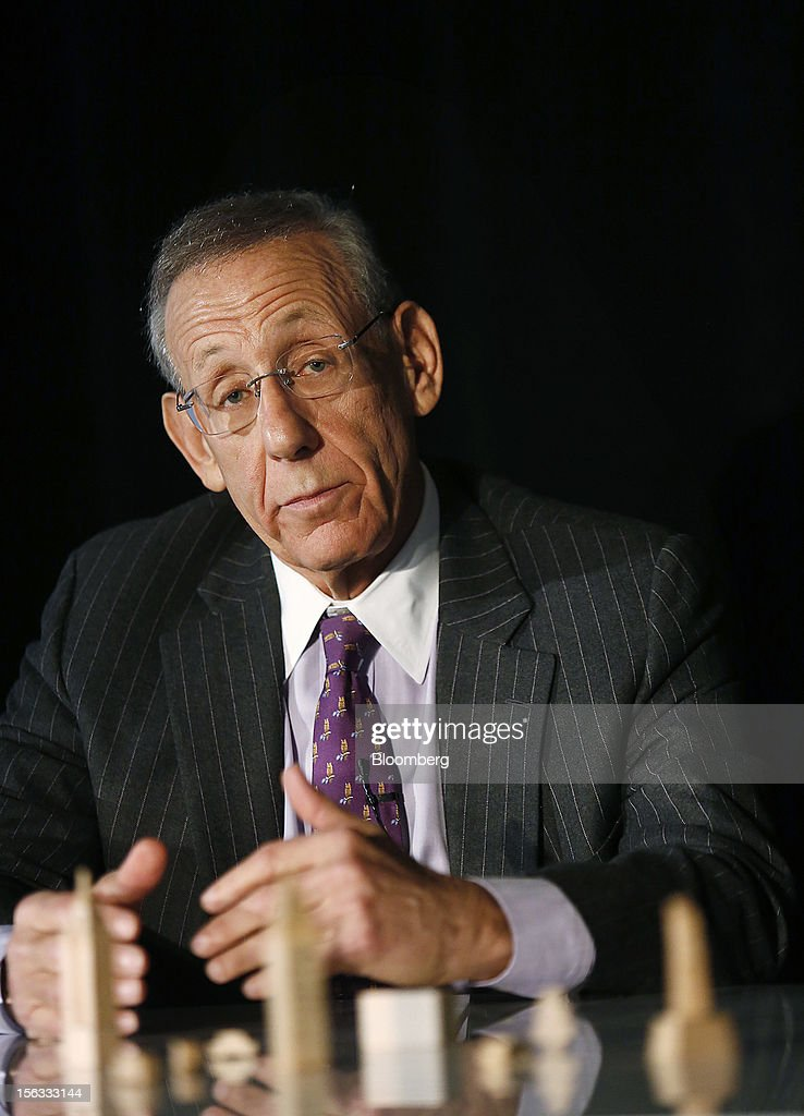 Stephen M. Ross, chairman and founder of Related Cos., gestures while speaking during a panel discussion at the Bloomberg Commercial Real Estate Conference in New York, U.S., on Tuesday, Nov. 13, 2012. The third Bloomberg Commercial Real Estate Conference will gather the most influential leaders in real estate to map out strategies for the coming year as well as explore the economic and political factors that have helped to drive a recovery. Photographer: Victor J. Blue/Bloomberg via Getty Images