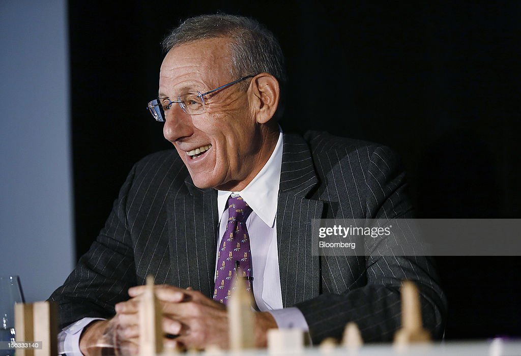 Stephen M. Ross, chairman and founder of Related Cos., smiles during a panel discussion at the Bloomberg Commercial Real Estate Conference in New York, U.S., on Tuesday, Nov. 13, 2012. The third Bloomberg Commercial Real Estate Conference will gather the most influential leaders in real estate to map out strategies for the coming year as well as explore the economic and political factors that have helped to drive a recovery. Photographer: Victor J. Blue/Bloomberg via Getty Images