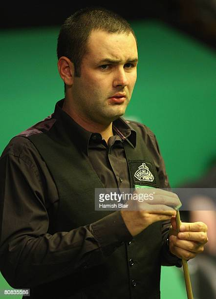 Stephen Maguire of Scotland looks on during his match against Anthony Hamilton of England during day five of the 888com World Snooker Championships...