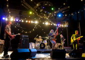 Stephen Malkmus Steve West Mark Ibold Bob Nastanovich and Scott Kannberg of Pavement perform during the third and final day of Pitchfork Music...
