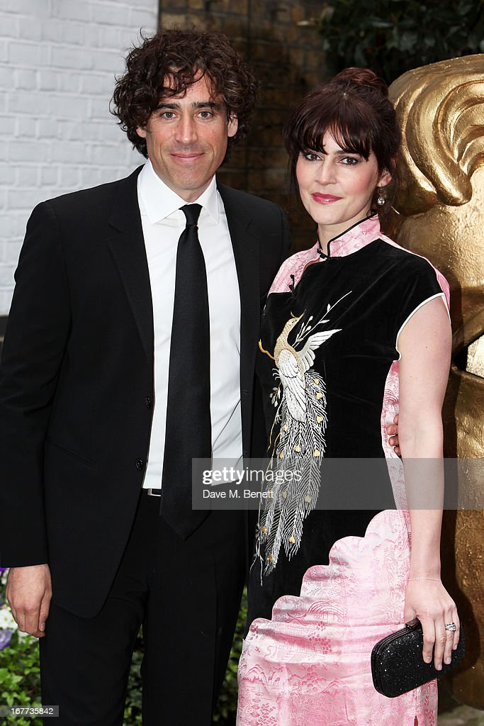 <a gi-track='captionPersonalityLinkClicked' href=/galleries/search?phrase=Stephen+Mangan&family=editorial&specificpeople=227894 ng-click='$event.stopPropagation()'>Stephen Mangan</a> and Guest attend the BAFTA Craft Awards at The Brewery on April 28, 2013 in London, England.