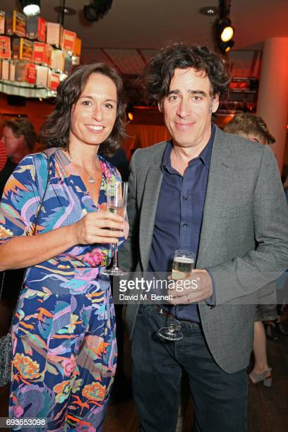 Stephen Mangan and guest attend the Baileys Women's Prize For Fiction Awards 2017 at The Royal Festival Hall on June 7 2017 in London England