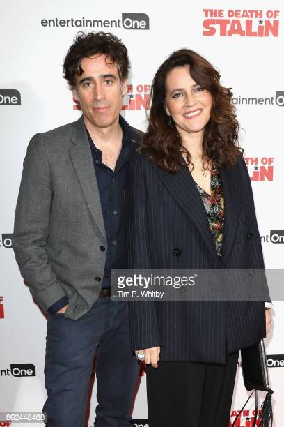 Stephen Mangan and Louise Delamere arriving at 'The Death Of Stalin' UK Premiere held at Curzon Chelsea on October 17 2017 in London England