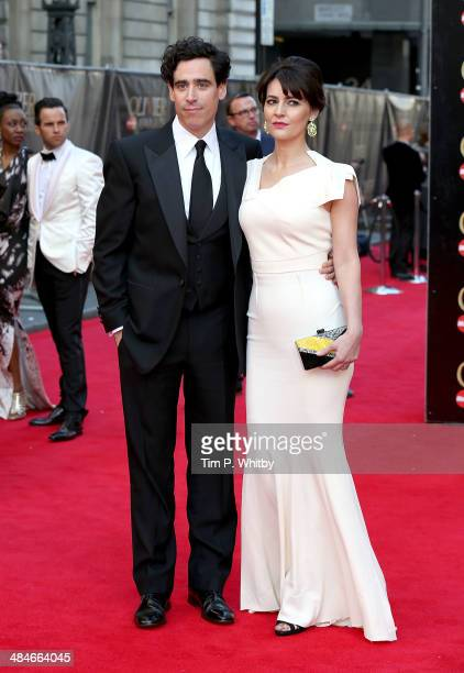 Stephen Mangan and Louise Delamere attends the Laurence Olivier Awards at The Royal Opera House on April 13 2014 in London England