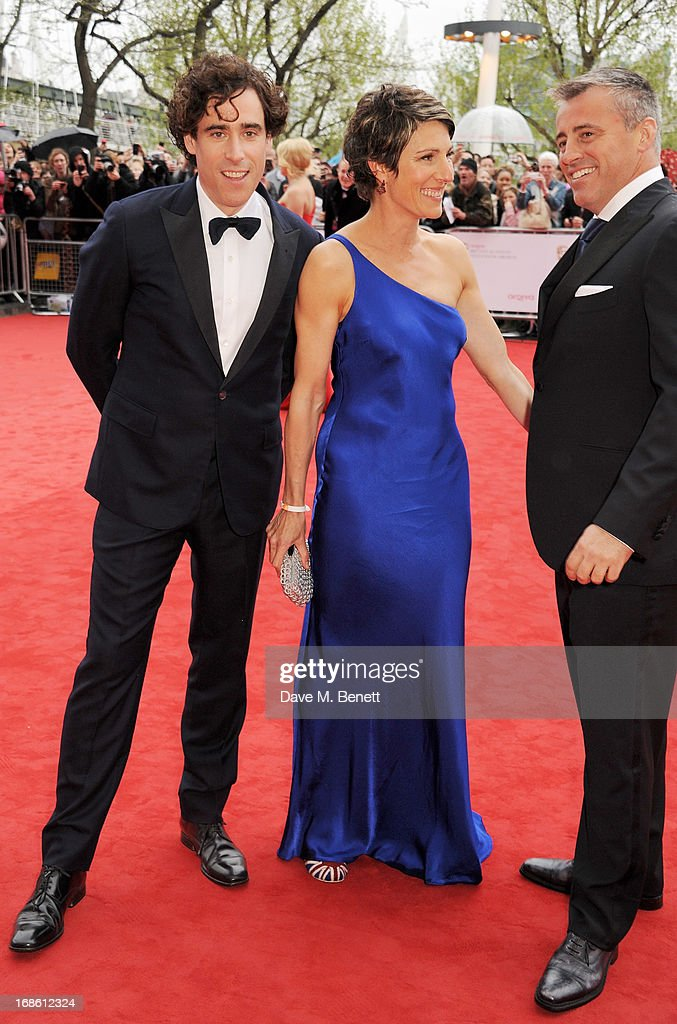 Stephen Mangan, Tamsin Greig and Matt Leblanc attend the Arqiva British Academy Television Awards 2013 at the Royal Festival Hall on May 12, 2013 in London, England.