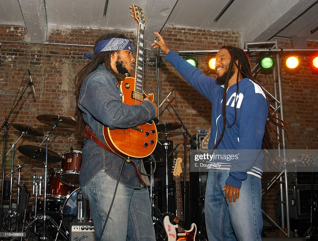 Stephen Marley and Ziggy Marley during Tuff Gong Clothing Launch Party Hosted by Rohan Marley and and Stefano Aldighieri at Drive In Studios in New...