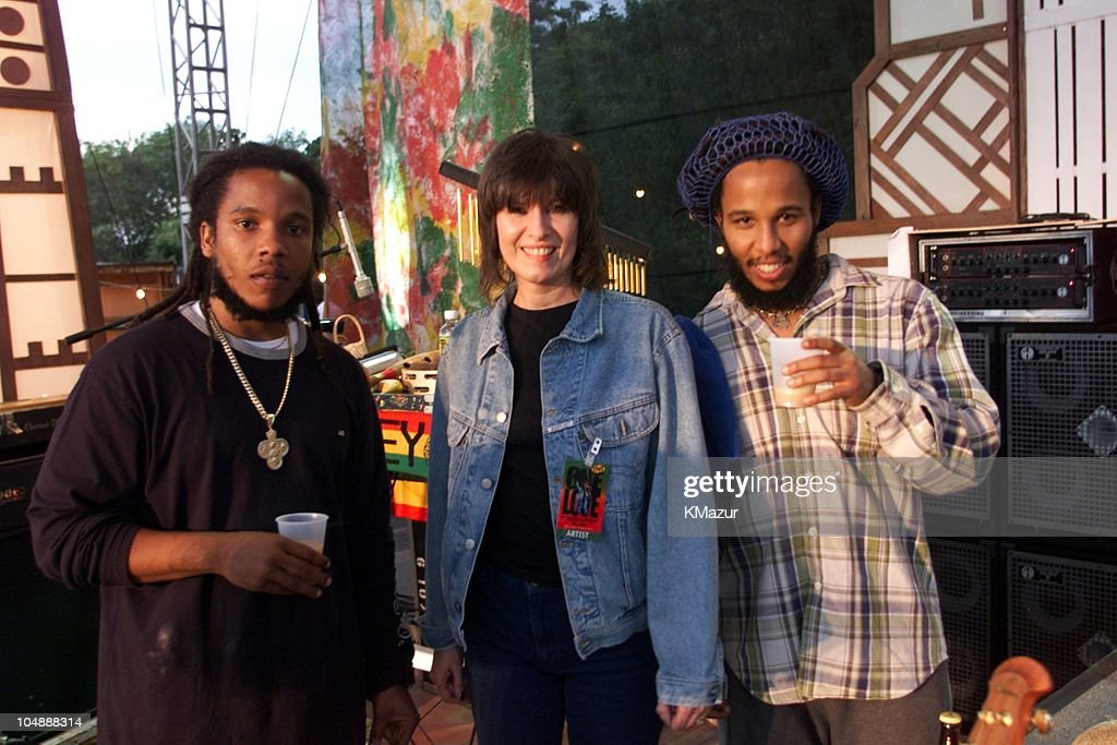Stephen Marley & Chrissie Hynde & Ziggy Marley during One Love-The Bob Marley Tribute in Oracabessa Beach, Jamaica.