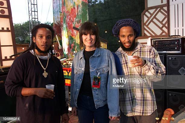 Stephen Marley Chrissie Hynde Ziggy Marley during One LoveThe Bob Marley Tribute in Oracabessa Beach Jamaica