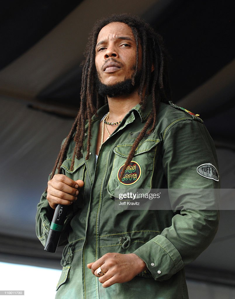 Stephen Marley during 38th Annual New Orleans Jazz & Heritage Festival Presented by Shell - Stephen Marley featuring Jr. Gong at New Orleans Fair Grounds in New Orleans, Louisiana, United States.