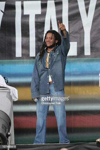 Stephen Marley during LIVE 8 Philadelphia Show at Philadelphia Museum of Art in Philadelphia Pennsylvania United States