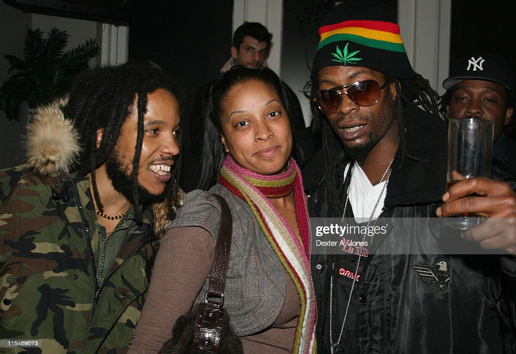 Stephen Marley, guest and Mr. Cheeks during Stephen Marley in Concert at Toads Place - March 21, 2007 at Toads Place in New Haven, Connecticut, United States.
