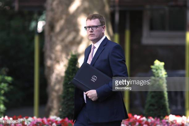Stephen Martin director general of the Institute of Directors arrives in Downing Street for a business advisory group meeting in London UK on...