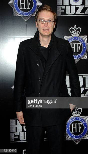 Stephen Merchant during 'Hot Fuzz' London Premiere Inside Arrivals at Vue West End in London United Kingdom