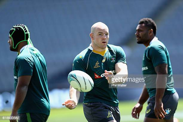 Stephen Moore of the Wallabies during the Australia Wallabies captain's run at Eden Park on October 21 2016 in Auckland New Zealand