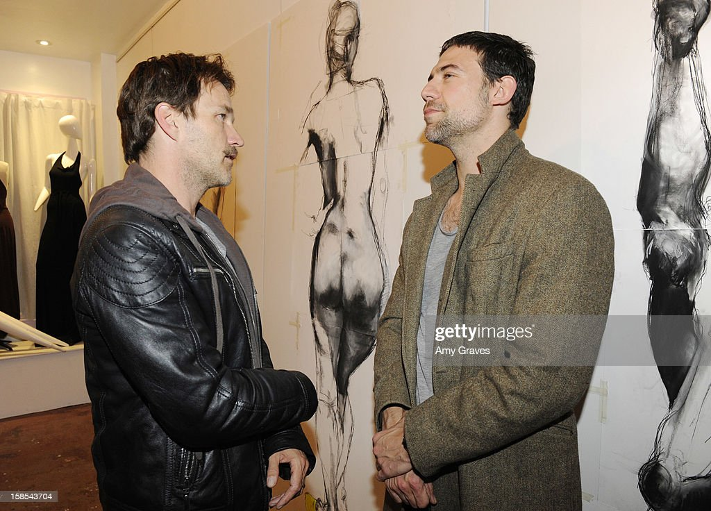 <a gi-track='captionPersonalityLinkClicked' href=/galleries/search?phrase=Stephen+Moyer&family=editorial&specificpeople=4323688 ng-click='$event.stopPropagation()'>Stephen Moyer</a> and Adam Rayner attend Lorien Haynes' Art Show at The Quest on December 14, 2012 in Los Angeles, California.
