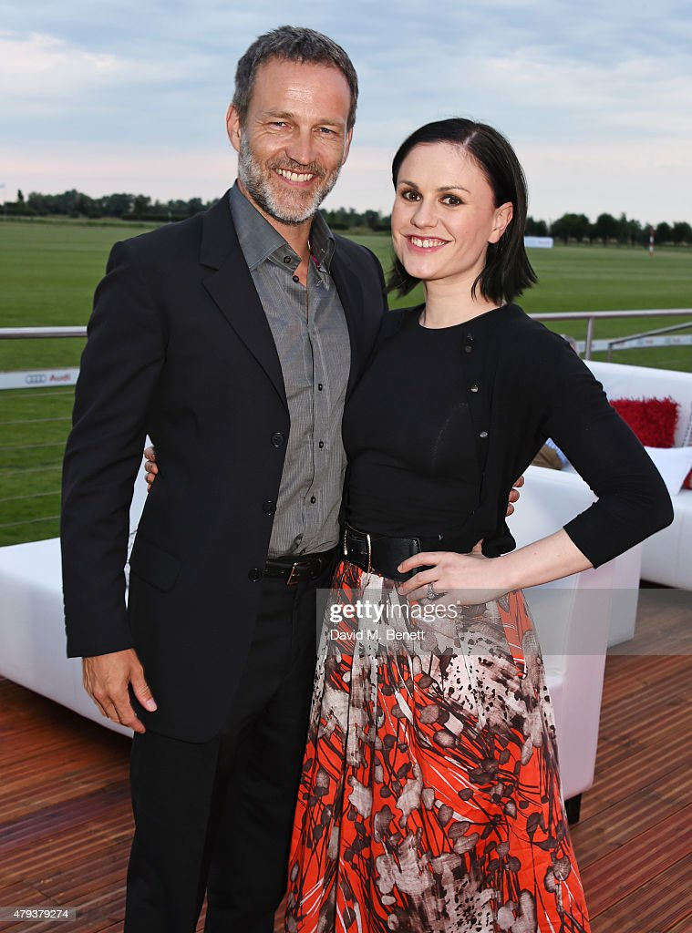 Stephen Moyer (L) and Anna Paquin attend the Audi Polo Challenge 2015 at Cambridge County Polo Club on July 3, 2015 in Cambridge, England.