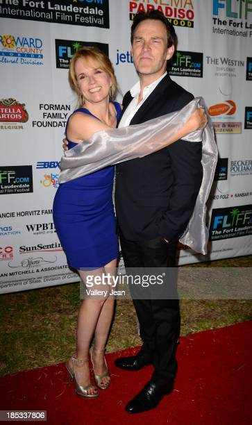 Stephen Moyer and Lea Thompson attend The 28th Annual Fort Lauderdale International Film Festival Opening Night at Cinema Paradiso on October 18 2013...