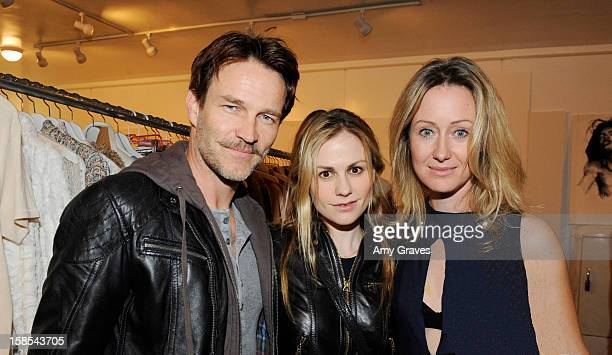 Stephen Moyer Anna Paquin and Lorien Haynes attend Lorien Haynes' Art Show at The Quest on December 14 2012 in Los Angeles California