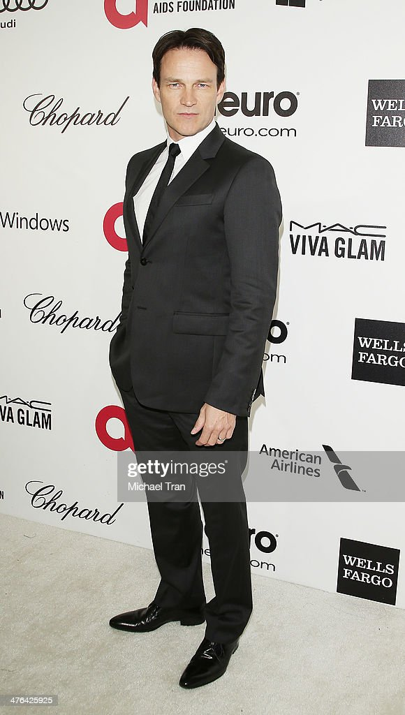 <a gi-track='captionPersonalityLinkClicked' href=/galleries/search?phrase=Stephen+Moyer&family=editorial&specificpeople=4323688 ng-click='$event.stopPropagation()'>Stephen Moyer</a> arrives at the 22nd Annual Elton John AIDS Foundation's Oscar viewing party held on March 2, 2014 in West Hollywood, California.