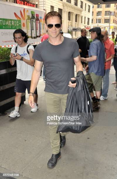 Stephen Moyer is seen on July 16 2014 in New York City