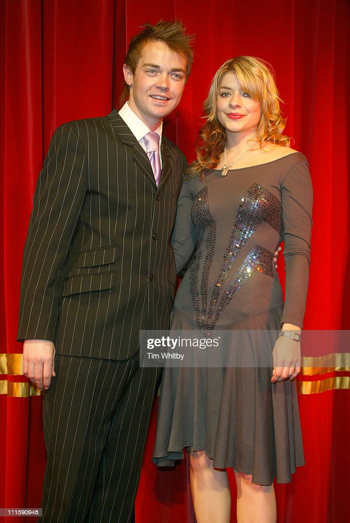 Stephen Mulhern and Holly Willoughby during Launch of Royal Mail's New Set of 'Magic Stamps' Photocall at London Headquaters of the Magic Circle in...