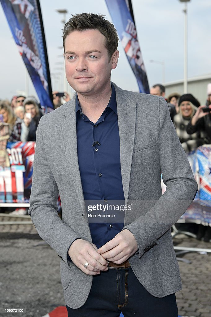 Stephen Mulhern arrives for the 1st day of judges auditions for 'Britain's Got Talent' at Millenium Centre on January 16, 2013 in Cardiff, Wales.