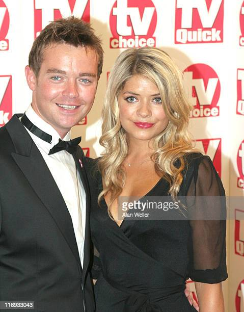 Stephen Mulherne and Holly Willoughby during TV Quick Awards TV Choice Awards Inside Arrivals at The Dorchester in London Great Britain
