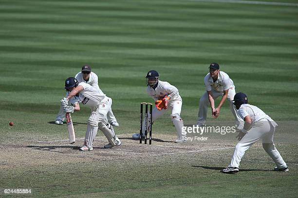 Stephen O'Keefe of NSW bats during day four of the Sheffield Shield match between New South Wales and Victoria at Sydney Cricket Ground on November...