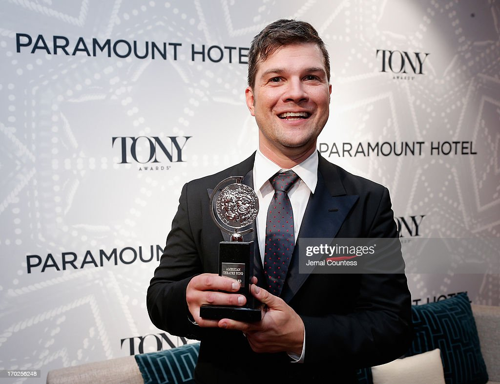 Stephen Oremus poses with the award for Best Orchestrations for 'Kinky Boots' at The 67th Annual Tony Awards Paramount Hotel Winners' Room at Radio City Music Hall on June 9, 2013 in New York City.