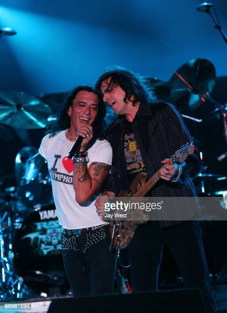 Stephen Pearcy and Warren DeMartini of Ratt perform on Day 2 of the Rocklahoma Music Festival on July 10 2009 in Pryor Oklahoma