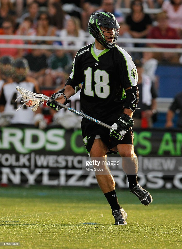 Stephen Peyser of the New York Lizards in action against the Rochester Rattlers at James M Shuart Stadium on July 27 2013 in Hempstead New York The...