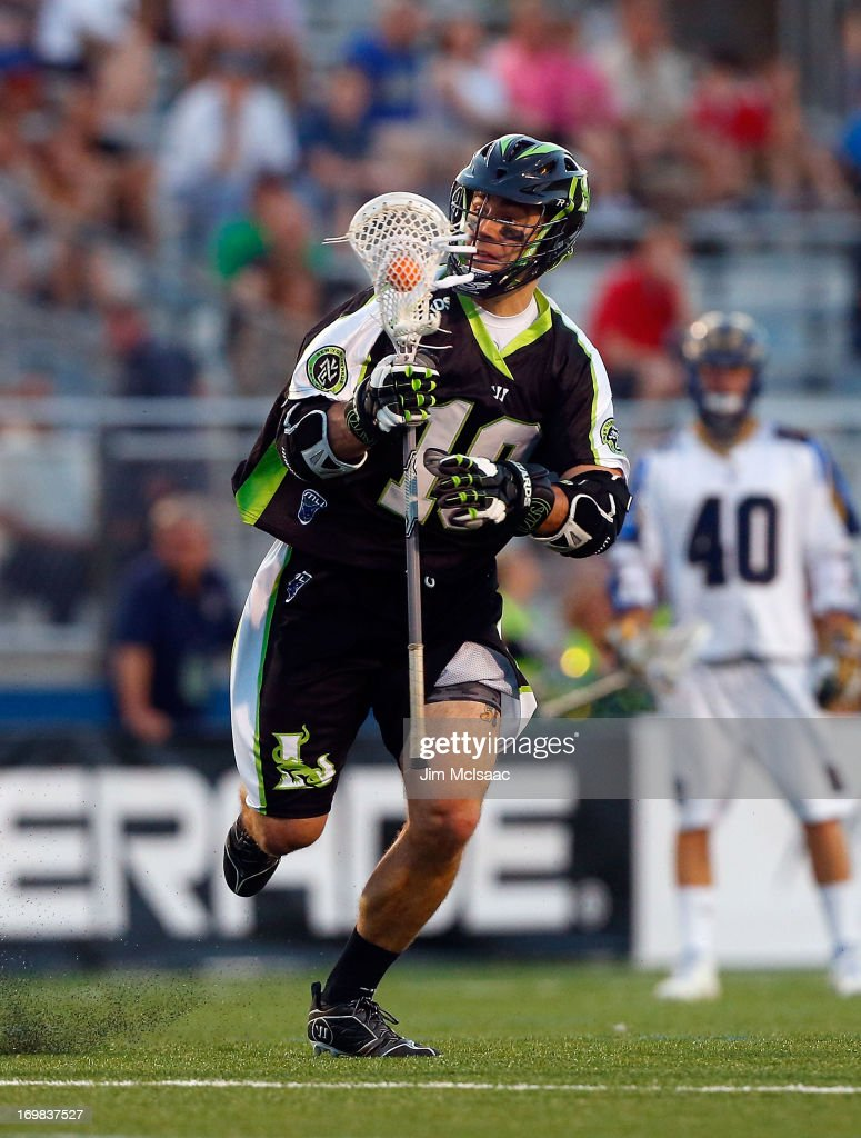 Stephen Peyser #18 of the New York Lizards in action against the Charlotte Hounds during their Major League Lacrosse game at Shuart Stadium on May 31, 2013 in Uniondale, New York. The Hounds defeated the Lizards 14-12.