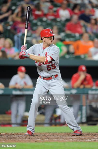 Stephen Piscotty of the St Louis Cardinals bats against the Baltimore Orioles at Oriole Park at Camden Yards on June 16 2017 in Baltimore Maryland