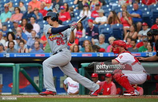 Stephen Piscotty of the St Louis Cardinals during a game against the Philadelphia Phillies at Citizens Bank Park on June 21 2017 in Philadelphia...