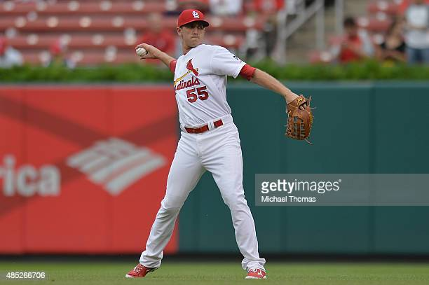 Stephen Piscotty of the St Louis Cardinals prior to a game against the San Francisco Giants at Busch Stadium on August 19 2015 in St Louis Missouri