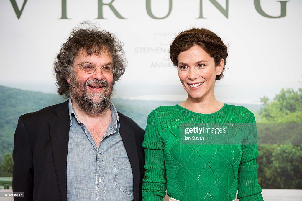Stephen Poliakoff and <a gi-track='captionPersonalityLinkClicked' href=/galleries/search?phrase=Anna+Friel&family=editorial&specificpeople=202225 ng-click='$event.stopPropagation()'>Anna Friel</a> attend a screening of 'Virunga', a short film about Africa's oldest national park and its wildlife at BFI IMAX on October 14, 2013 in London, England.