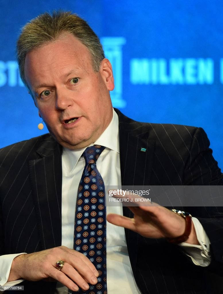 Stephen Poloz, Governor, Bank of Canada, speaks on the panel 'Monetary Policy: Out of Ammunition?' at the 2016 Milken Institute Global Conference in Beverly Hills, California on May 3, 2016. / AFP / FREDERIC