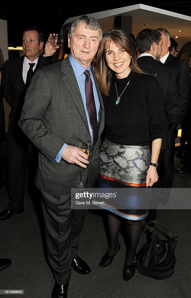 Stephen Quinn (L) and Sarah Miller attend the launch of the Vertu Ti at the London Film Museum, Covent Garden on February 12, 2013 in London, England.